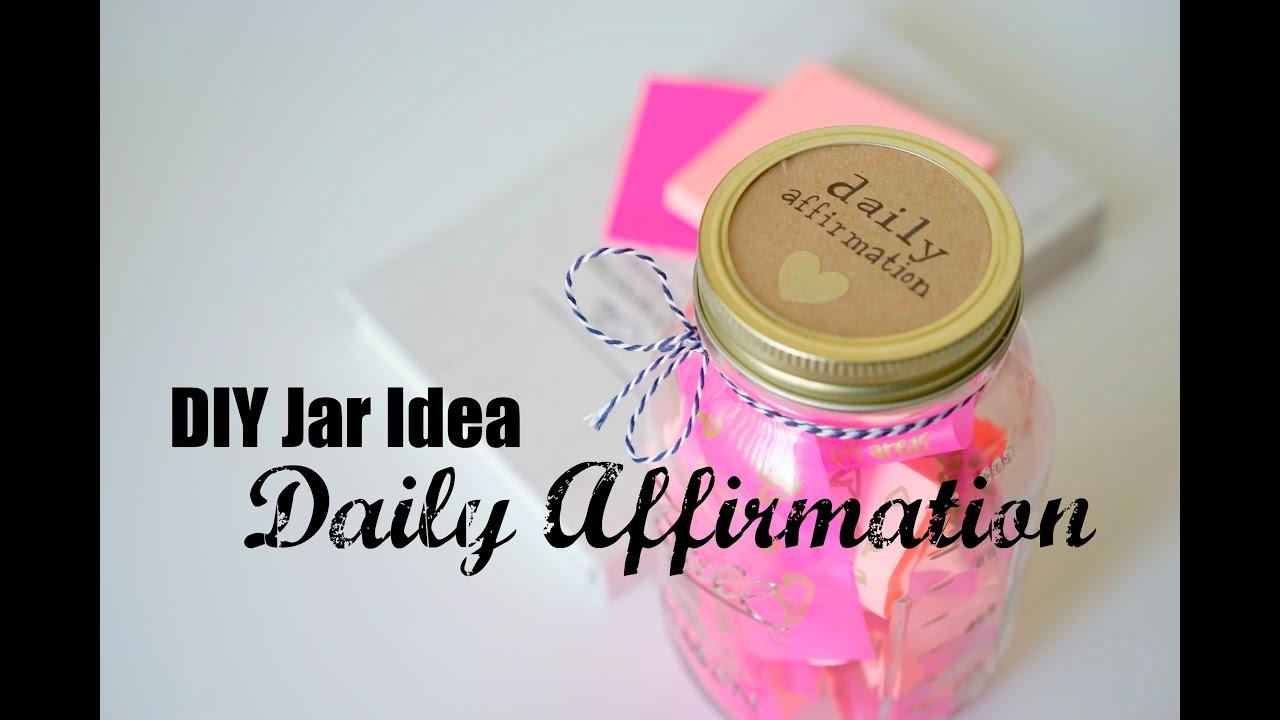 Diy Daily Affirmation Jar Youtube