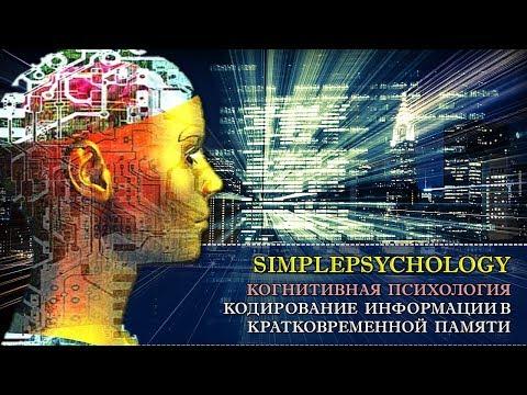 Когнитивная психология памяти #45. Кодирование информации в кратковременной памяти.