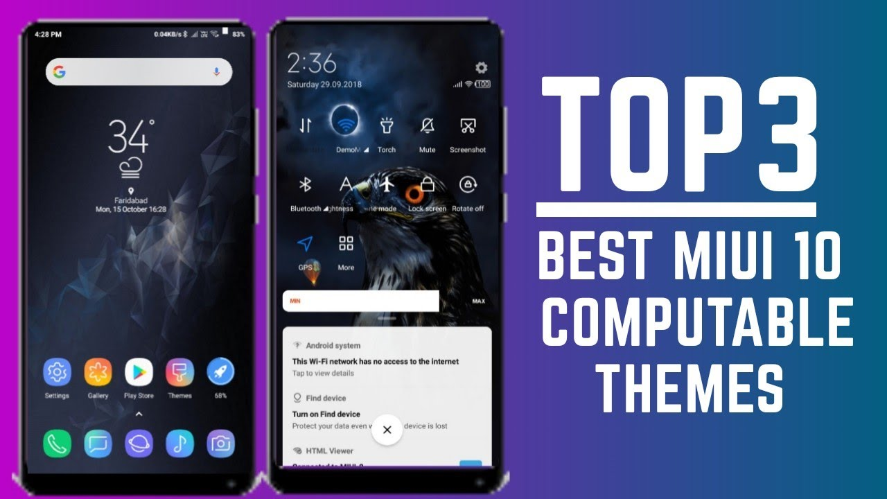 Top 3 best miui themes that are fully compatible with miui 10 / hindi