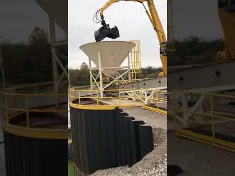 55' Barge Unloading Machine working in Alabama