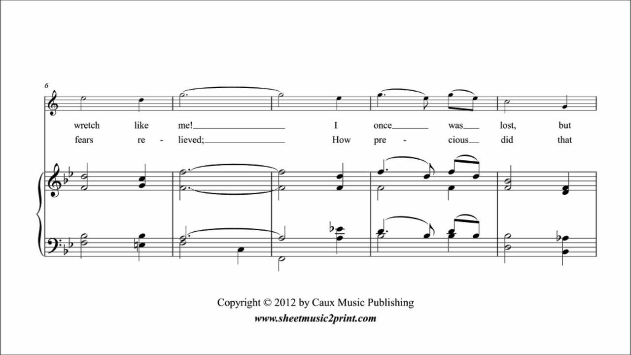Amazing Grace - Trumpet - Sheetmusic2print com
