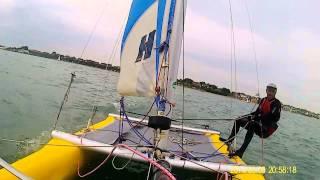sailing at hill head on dart 16