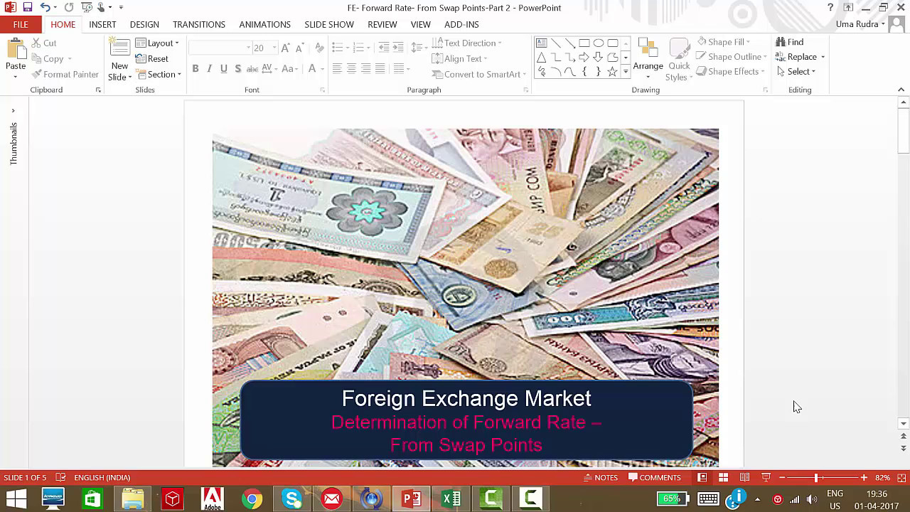 Foreign Exchange - Forward Rate from Swap Points