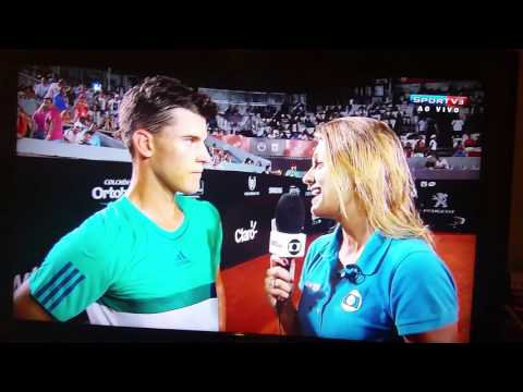 Dominic Thiem - Rio Open interview on court 02.17.2016