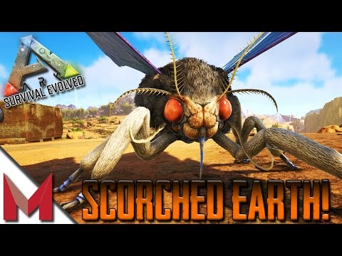 ARK: SCORCHED EARTH -=- TAMING A MOTH / TAMING A LYMANTRIA -=- S1E2 GAMEPLAY