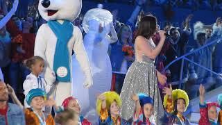 Дарья Антонюк поет на церемонии закрытия Всемирной Универсиады 2019