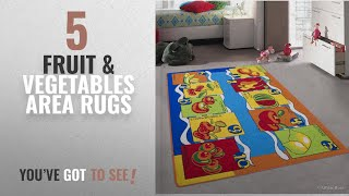 Top 10 Fruit & Vegetables Area Rugs [2018 ]: Allstar Kids / Baby Room Area Rug. Fruits and
