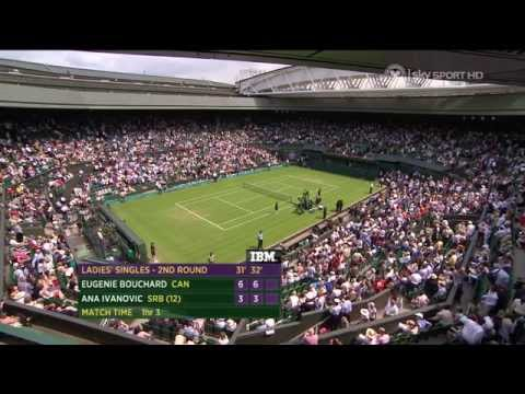 2013 Wimbledon 2nd Round Eugenie Bouchard vs. Ana Ivanovic