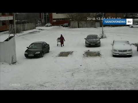 Иваново столб падает на машину
