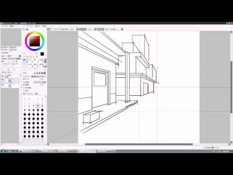 Paint Tool Sai 2 : PERSPECTIVE RULERS.
