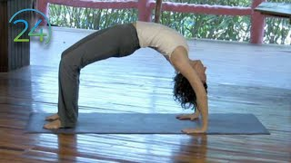 Grounding Afternoon Yoga Practice ~ Full Length Intermediate Class ~ 45 minutes(New Class Promo* https://www.youtube.com/watch?v=qykBNDiGDeI DVD - http://yogayak.com/DVD_Morning_Afternoon -----2 amazing classes- Download: ..., 2009-11-23T05:19:49.000Z)