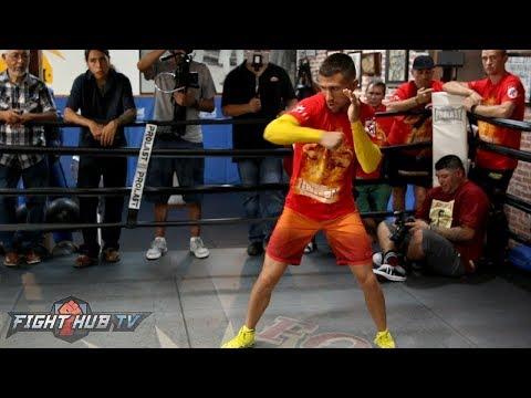 Vasyl Lomachenko's FULL shadow boxing workout - Lomachenko vs. Marriaga video
