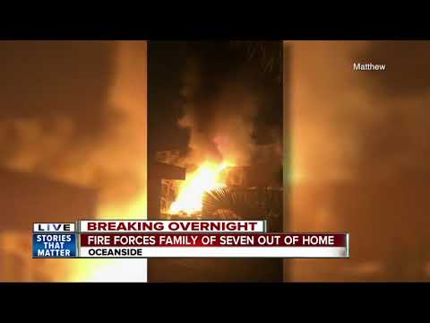 Fire forces family out of Oceanside home