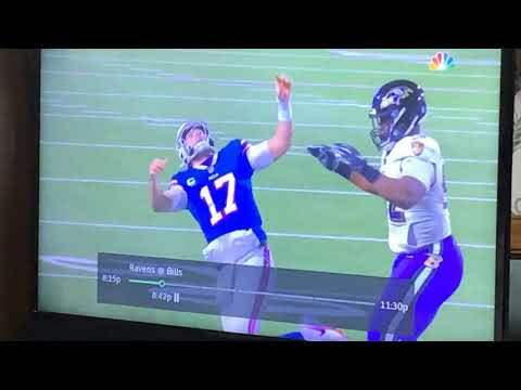 Josh Allen's Flop Wuss Move: Fake Fall Gets Roughing-The-Passer Call in Ravens vs Bills