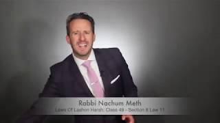 Lashon Harah Class 49   8-11