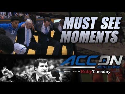 Powerful Moment of Silence for Dean Smith at UNC/Duke | ACC Must See Moment