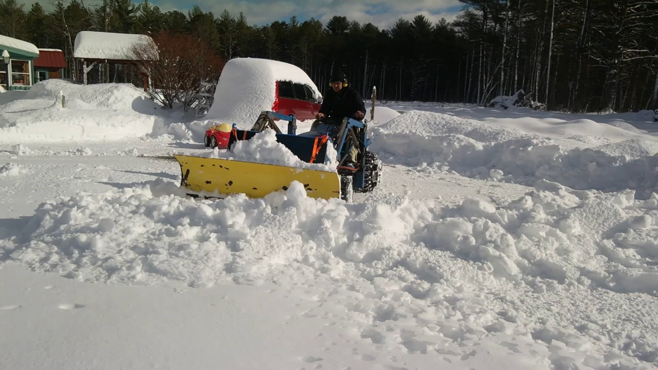 Garden Tractor Snow Plows : Ford lgt garden tractor snow plow and blower youtube