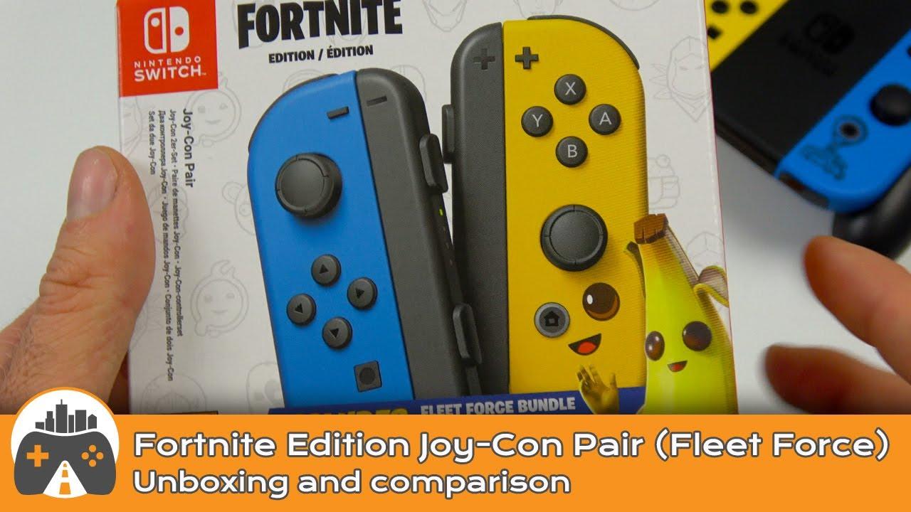 [Fortnite Joy-Con pair Fleet Force] Unboxing and comparison