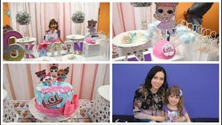 como decorar mesa de postres dulces muñecas L.O.L como decorar cumpleaños de niñas