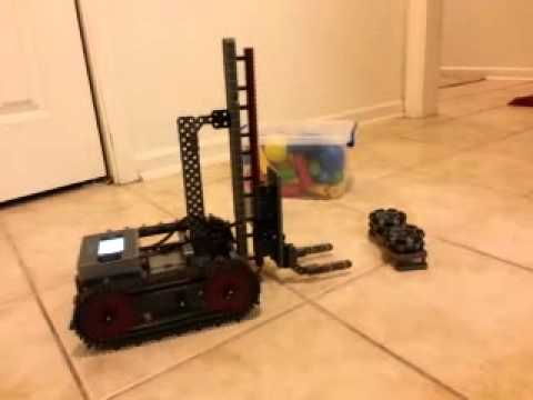 vex iq tank track forklift robot youtube. Black Bedroom Furniture Sets. Home Design Ideas