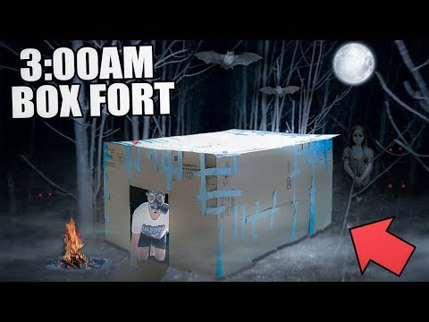 3:00 AM BOX FORT CHALLENGE!! 😱 (EXTREMELY SCARY)