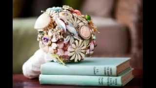 20 идей для винтажного свадебного букета!
