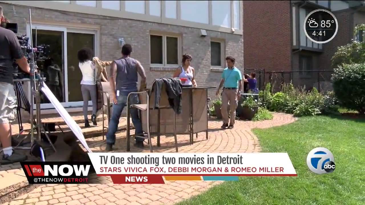 vivica fox shooting two movies in detroit youtube