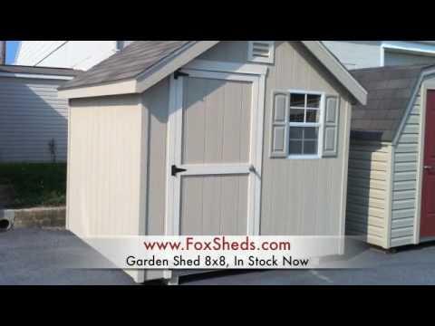 Garden Sheds 8x8 garden shed 8x8 @ fox's country sheds - youtube