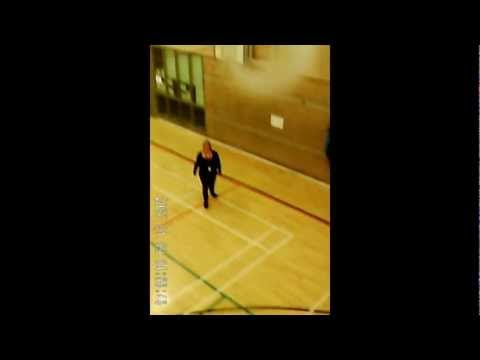 Helicopter Cam in basketball court