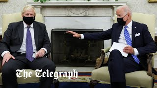 video: White House tries to blame Boris Johnson for 'chaotic scenes' in Oval Office