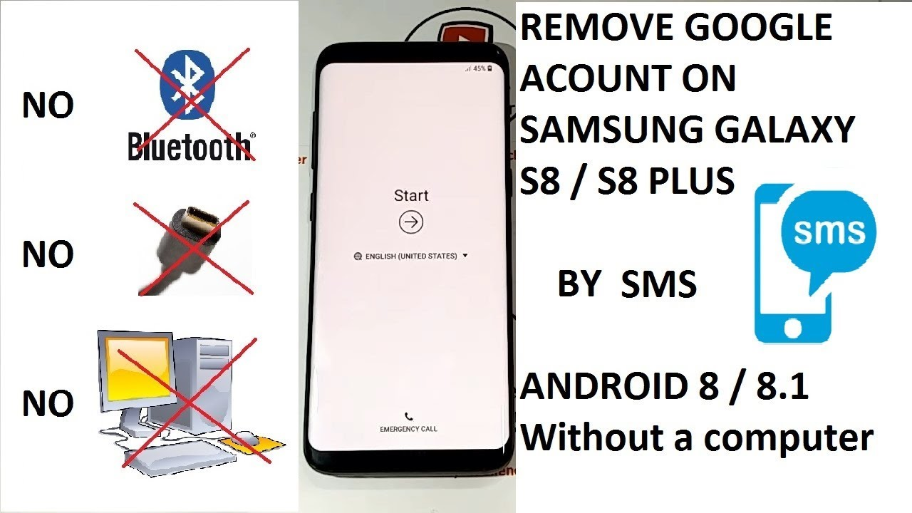 REMOVE GOOGLE ACCOUNT ON SAMSUNG GALAXY S8 / S8 PLUS ANDROID