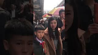 中国吉林省通化市輝南県の商店街