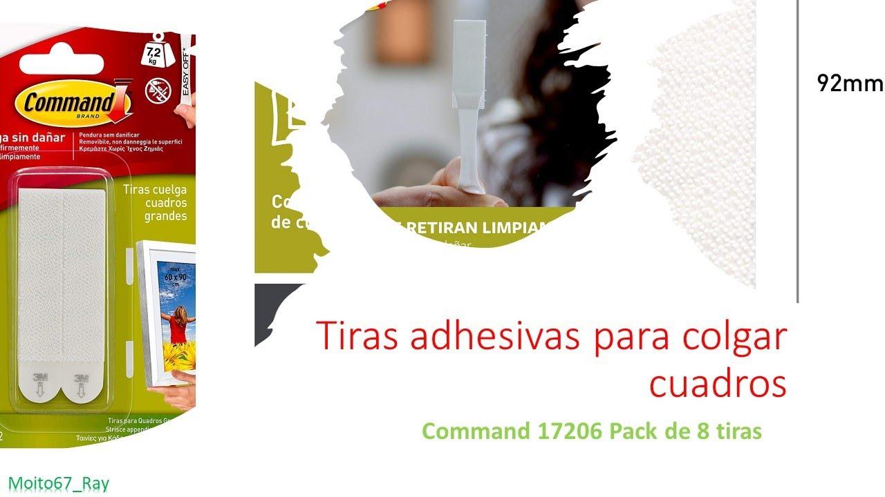 Tiras adhesivas para colgar cuadros 4pcs command 17206 for Tiras para colgar cuadros