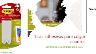 Tiras Adhesivas para Colgar Cuadros - 4pcs, Command 17206
