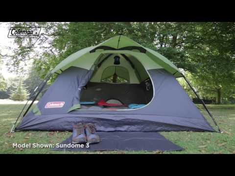 57a6dc04e74 Coleman® Sundome 4 Person Tent - EN - YouTube