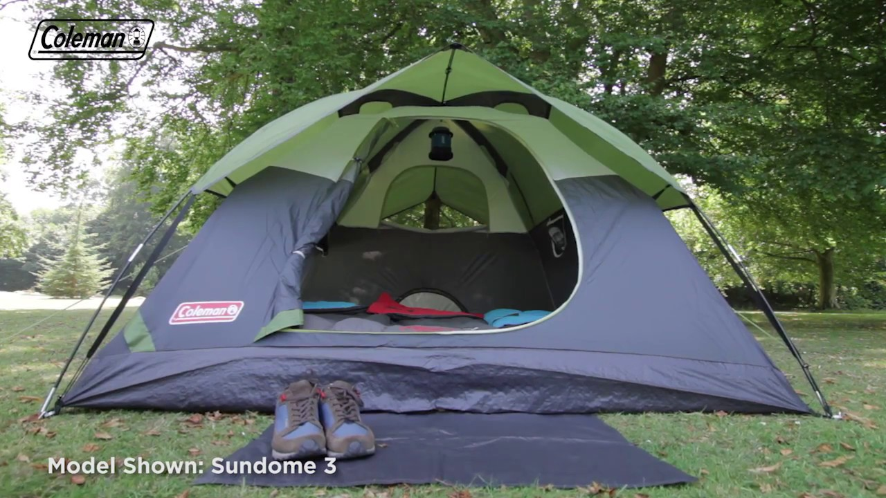 Coleman 174 Sundome 4 Person Tent En Youtube