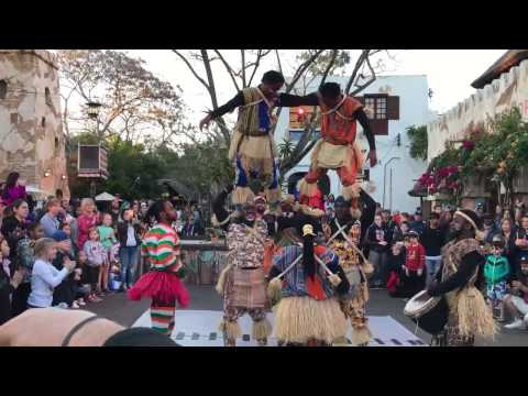 BEST SHOW EVER!! The Harambe Village Acrobats in Disney's Animal Kingdom - Africa