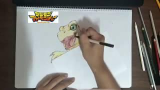 Digimon 數碼寶貝 亞古獸 agumon speed draw