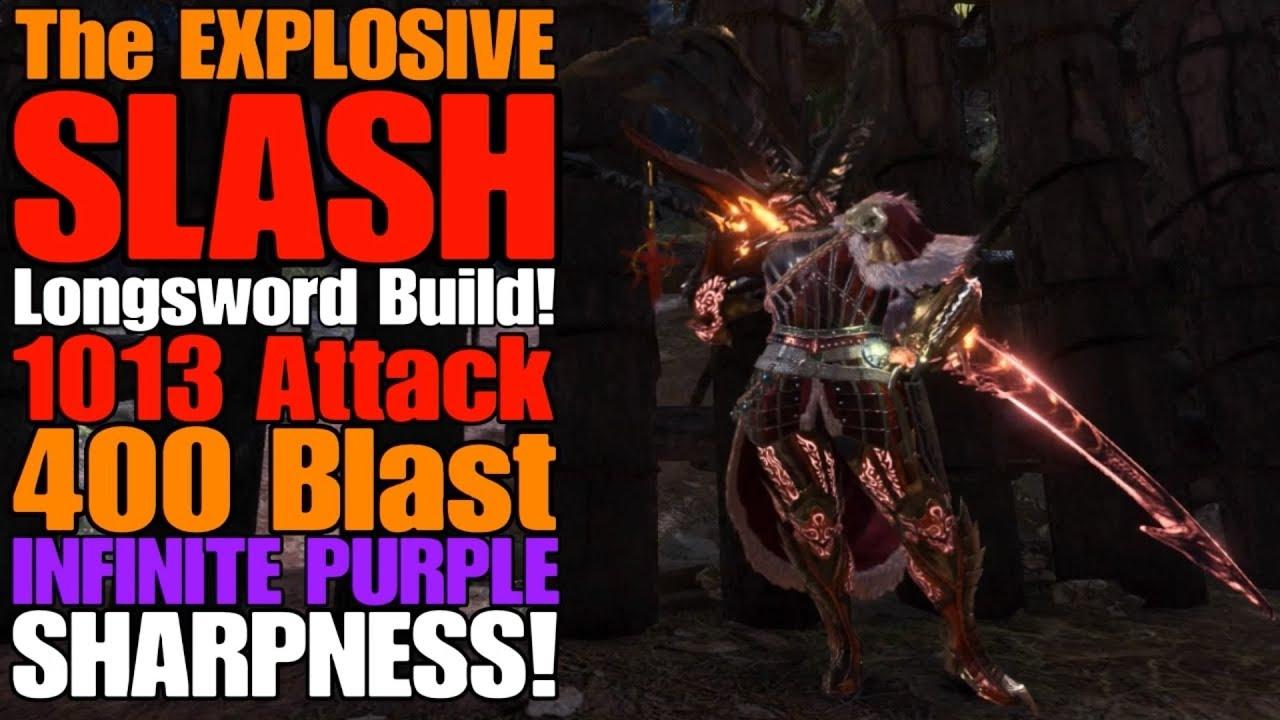 Mhw Iceborne The Explosive Slash Longsword Build Safi S