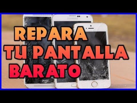 COMO REPARAR ARREGLAR PANTALLA DE CRISTAL ROTA RAJADA RAYADA DE MOVIL SAMSUNG HUAWEI IPHONE CELULAR