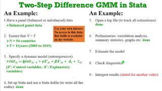 (Stata13): How to Estimate Two-Step Difference GMM #gmm #onestepgmm #twostepgmm #yeardummies