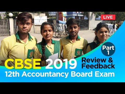 CBSE 12th Accountancy Board Exam 2019: Students' Reaction On Exam