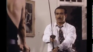 """Pure Fight, Scene: Shin'ichi Sonny Chiba """"Immotal Combat"""" Roddy Piper, Meg Foster, Tommy Lister"""