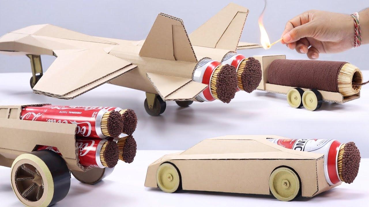 Download 4 Best Match Stick Powered Cardboard Jet Experiment