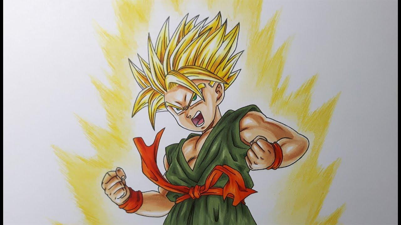 How To Draw Kid Goku Ssj