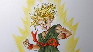 Drawing Kid Trunks Super Saiyan