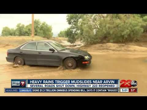 Flooding and mudslide shut down roads