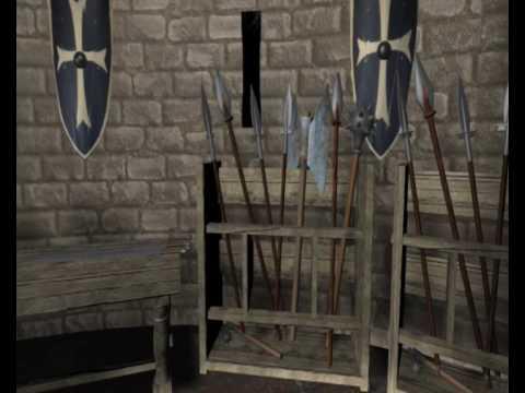 3D Bedford Castle 1300ad
