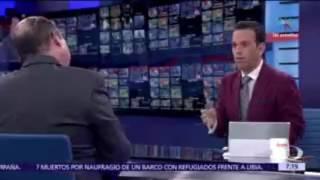 César Duarte se molesta en entrevista con Loret de Mola