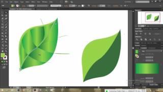 Belajar Disain Grafis Membuat Vector Daun dan Setetes Air  | A…